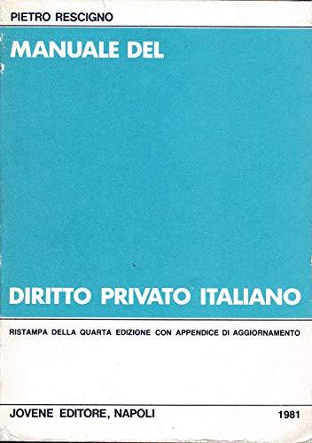 Manuale del diritto privato italiano