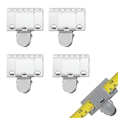 Clip de cinta métrica,herramienta de medición de cinta de precisión para todas las cintas de medición,herramienta de medición de precisión,clip de cinta métrica para esquinas,accesorios de carpintería
