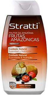Stratti Frutas Amazónicas - Champú Cuidado Natural con Keratina sin Sal - 400 ml