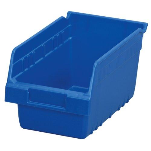 Akro-Mils 30090 Plastic Nesting ShelfMax Storage Bin Box, (12-Inch x 6-Inch x 6-Inch), Blue, (10-Pack)