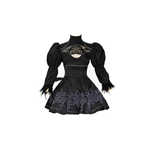 Anime Spiel Nier Automata Cosplay Kostüm Yorha Nr. 2 2B Cartoon Anzug Frauen Verkleidung Uniform Set Mädchen Phantasie Party Schwarz Lolita Spitze Sexy Kleid Sets