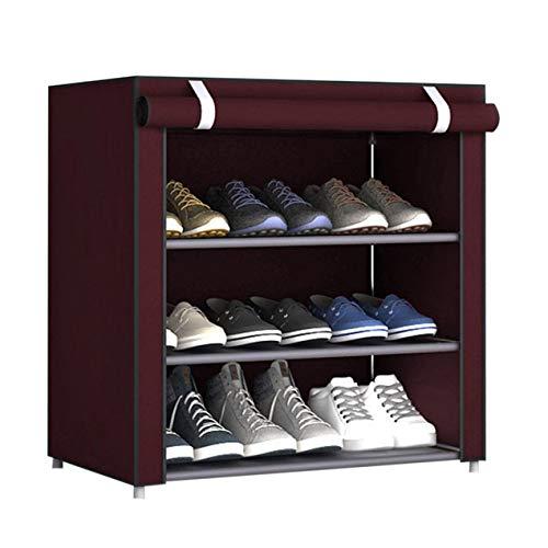 DBSUFV Estante de Zapatos de Tela no Tejida de Gran tamaño a Prueba de Polvo, Organizador de Zapatos, Dormitorio, Dormitorio, Zapatero, Estante, gabinete