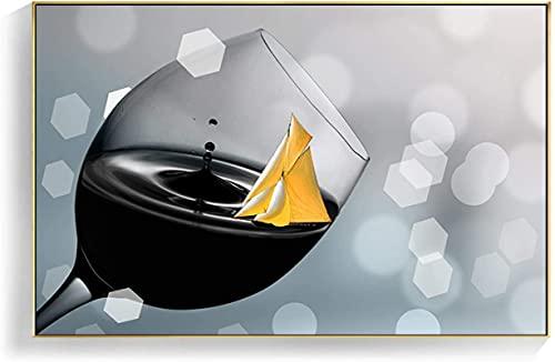 Impresiones de imágenes nórdico romántico vino tinto champán lienzo pintura cocina cuadros de pared modernos para sala de estar decoración del hogar 20x30cm sin marco