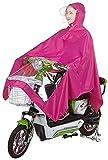 GUYUE Individual Oxford Tela Impermeable de Bicicleta eléctrica, Doble Sombrero del Poncho, Paseo de la Motocicleta Poncho Impermeable de la Cubierta for el Aire Libre Que va de...