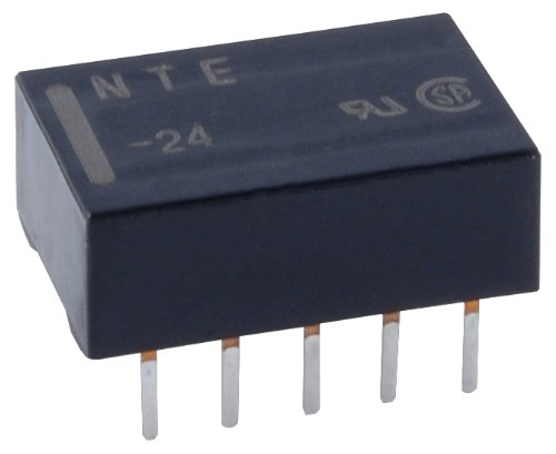 NTE Electronics R74-11D1-5 Series R74 Subminiature Pc Board Mount Low Power Consumption Relay, DPDT, 1 Amp, 5 VDC