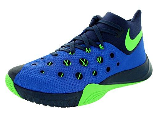 Juego Nike Zoom Hiperquickness 2015 para hombre Royal / Grn Strike / Mid Nvy Zapato de baloncesto 9 hombres EE. UU.