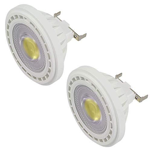 Daskoo G53 AR111 Lot de 2 spots LED COB 12 W pour ampoules halogènes 95 W Blanc froid 6000 K AC 85-265 V