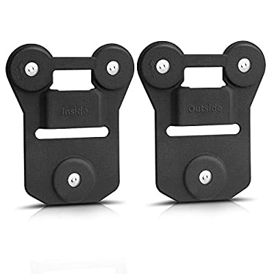 GRC Body Camera Magnet Mount - Black Silicone Strong Suction Body Worn Camera Magnets Clip, Stick to Clothes Universal Magnetic Mount for All Brand Body Cams by GRC