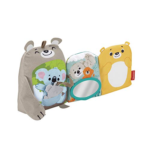 Fisher-Price Sit & Snuggle Activity Book Plush Animal Baby Toy