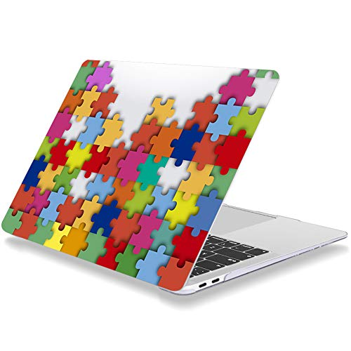 Case for MacBook Air 13 inch Older Version 2010-2017 Release A1369 A1466 Plastic Hard Shell Cover Compatible with MacBook Air 13' Without Touch ID Color Puzzle