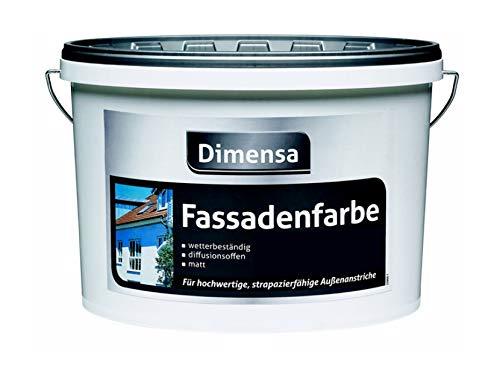 Dimensa 2,5 Liter Fassadenfarbe weiß matt