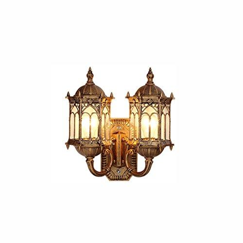 XYJGWBD Accesorio de iluminación al Aire Libre/Interior Al Aire Libre Único de Hierro Forjado Impermeable Luces de Pared Lámpara de Pared de Metal Jardín Lámpara de Pared Anti-Lluvia