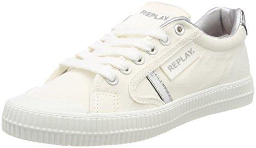 Replay Damen Dayton Sneaker, Mehrfarbig (White Silver), 36 EU