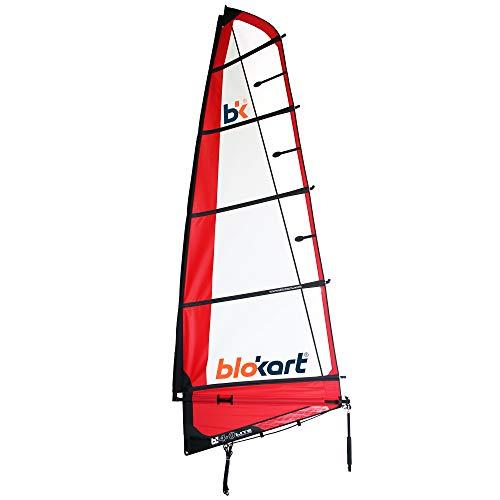 Patiente eléctrico Blokart Sail Complete 4.0m Red Unisex Adulto, Rojo, 4.0m2