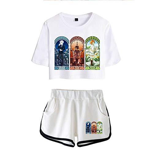 The Promised Neverland Crop Tops y Shorts Trajes para Niñas y Mujeres, Emma Norman Ray Summer Sexy Oversized Harajuku Streetwear Pijamas