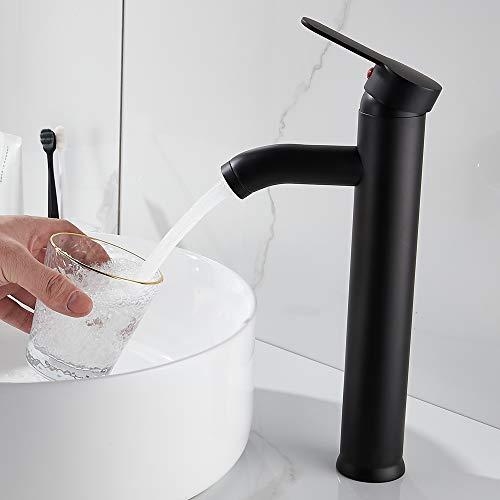 Beenle-Icey Grifo para lavabo, baño, grifo de cocina, material de acero inoxidable, suministro de agua caliente y fría, válvula de cerámica, tubo G3/8, para grifos de baño y cocina