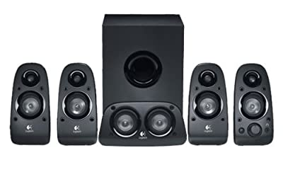 Logitech Z506 Multimedia 5.1 Speaker System, Immersive Surround Sound, 150 Watts Peak Power, Booming Bass, 3.5mm Audio & RCA Inputs, Easy Controls, PC/PS4/Xbox/TV/Smartphone/Tablet/Music Player from Logitech