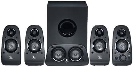 Logitech Z506 5.1 Sistema de Altavoces con Sonido Surround Envolvente, 150W de Pico, Graves Profundos, Entrada Audio 3.5 mm/RCA, Control Sencillo, Enchufe UK, PC/PS4/Xbox/TV/Smartphone/Tablet