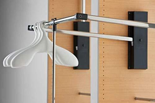 Appendiabito saliscendi Servetto professionale cm 87-119 da armadio
