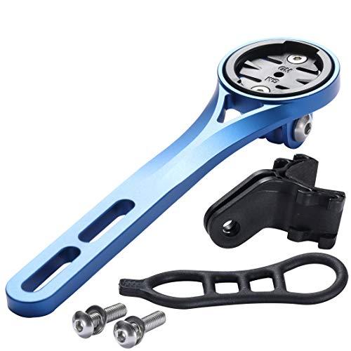 Dymoece Integrierte Fahrradcomputer Halterung aus Aluminiumlegierung für Rennrad, Kompatibel mit Garmin Edge 130 200 500 510 520 810 820 1000 1030, GoPro-Kamera und Lampe