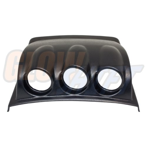 "GlowShift Black Triple Dashboard Gauge Pod for 1998-2005 Volkswagen VW Beetle - ABS Plastic - Mounts (3) 2-1/16"" (52mm) Gauges to Vehicle's Dash"