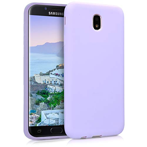 kwmobile Funda Compatible con Samsung Galaxy J7 (2017) DUOS - Funda Carcasa de TPU Silicona - Protector Trasero en Lila