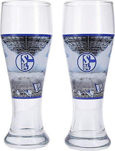 FC Schalke 04 Weizenglas / Bierglas / Hefeweizenglas / Glas 2er Set S04