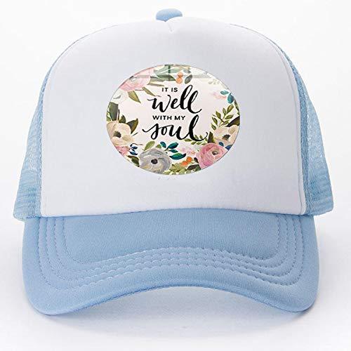 Bab New Christian Inspirierendes Bibelvers It Is Well With My Soul Art Foto Glas Baseballkappen Golf Caps Tennis Hut