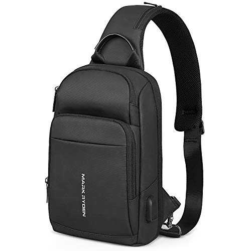MARK RYDEN Anti-Diebstahl-Schultertasche Schulter Brust Cross Body Rucksack wasserdicht Leichter Lässiger Tagesrucksack für 9,7 Zoll iPad