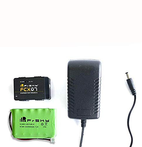 FrSky Transmitter QX7 FCX07 Charger&NiMH Battery Combo 2000mAh 7.2V Dual Mode Battery Charger Kit