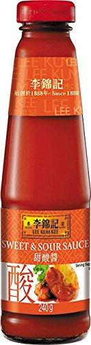 Lee Kum Kee Salsa Agridulce - 4 Paquetes de 240 gr - Total: 960 gr