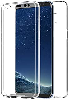 Samsung Galaxy S8 Plus case 360 Degree Soft Silicone TPU Front And Hard Plastic PC Back Protective/Clear