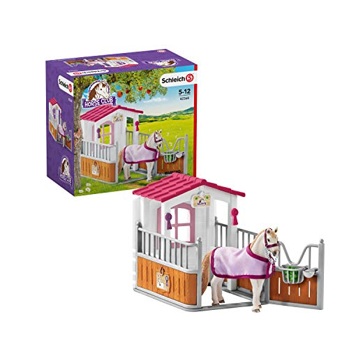 Schleich 42368 Horse Club Spielset - Pferdebox mit Lusitano Stute, Spielzeug ab 5 Jahren