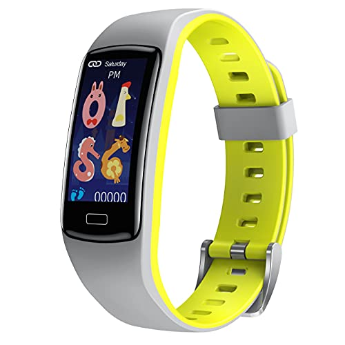 CatShin Smartwatch Bambini, Orologio Fitness Bambino Bambina Tracciamento Sport Smart Watch Impermeabile con Cardiofrequenzimetro da Polso Contapassi Activity Tracker Sveglia per Android iOS Grigio