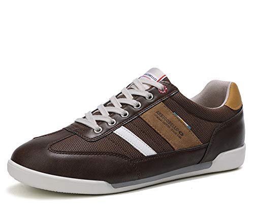 AX BOXING Mens Casual Shoes Fashion Sneakers Breathable Comfort Walking Shoes for Male(Brown, Numeric_10)