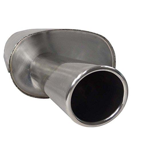 SUPERSPORT Stahl Endschalldämpfer OPEL Corsa C, Typ(en) C, 1.0,1.2,1.4,1.8,1.3CDTI,1.7DI,1.7CDTI (Otto 43,44,55,59,66,92KW Diesel 48,51,55KW), Bj. 09/00-, Frontantrieb - Endrohr(e) 1x 90mm rund, abgeschrägt