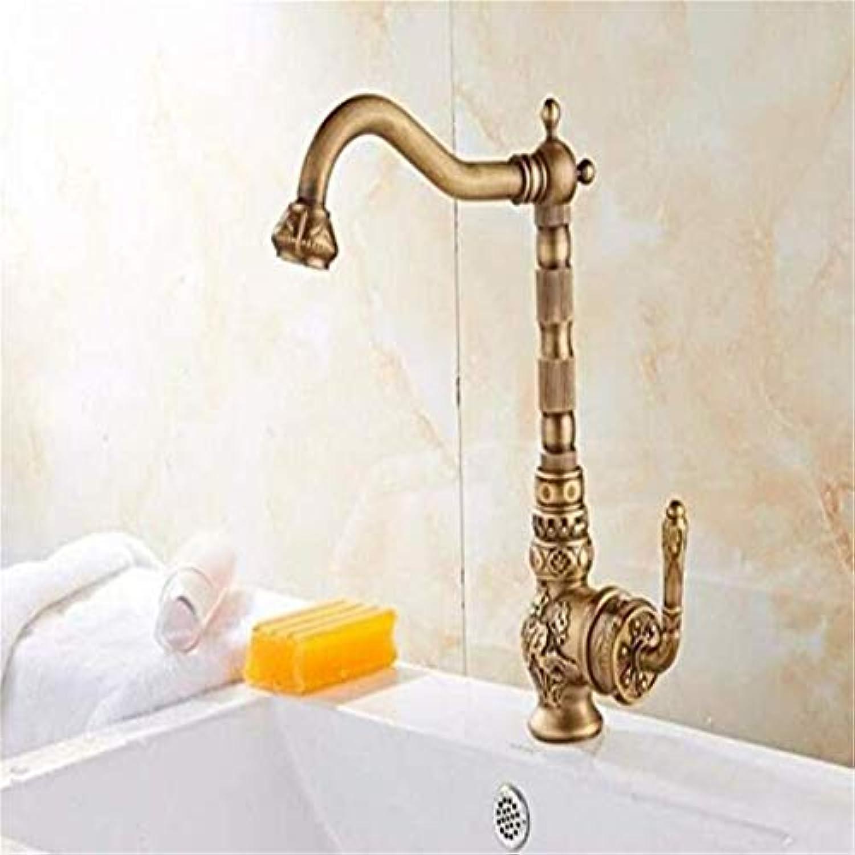Wasserhahn Moderner Luxus-Wasserhahnmischerbecken-Mischbatterien Waschbecken Wasserhahn Antik Hei Und Kalt Messing Kupfer Schwenkarmatur