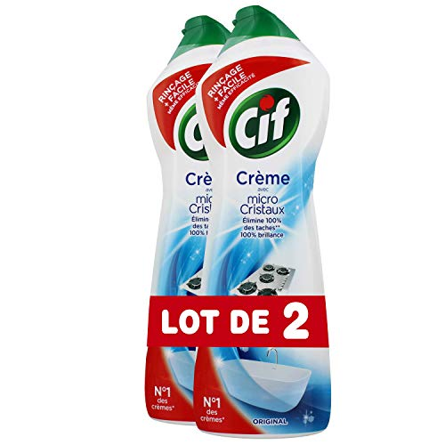 Cif crema per pulire e lucidare-Detergente Multi-superfici, Original, 750 ml, lotto di 2