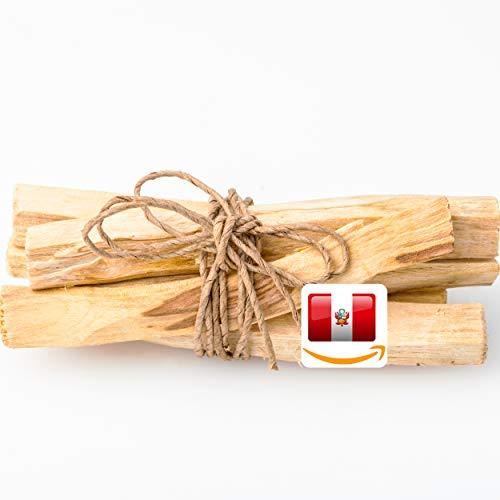 Mi-Tierra Premium Palo Santo Räucherstäbchen Räucherholz - Heiliges Holz Bursera Graveolens Zertifiziert Original aus Peru - Räucherwerk gespalten Weihrauch Holy Wood - 100% Natur - ca 6x Stück (100g)