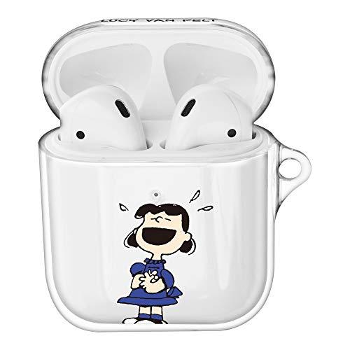 Peanuts Lucy Van Pelt ピーナッツ ルーシー ヴァン ペルト AirPods と互換性があります ケース 透明 エアーポッズ用ケース 硬い スリム ハード カバー (ハッピー ルーシー) [並行輸入品]