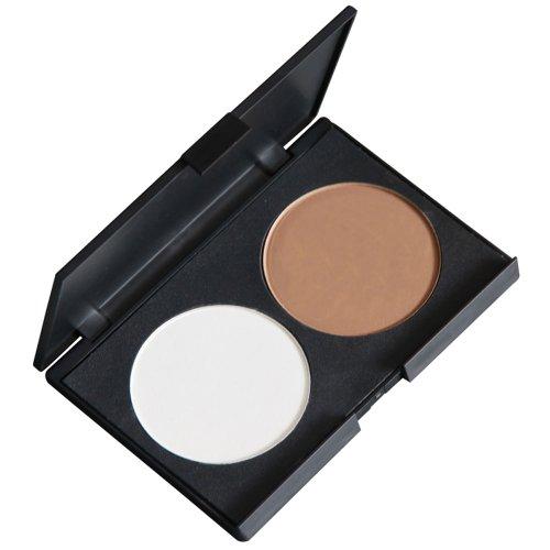 Contever® Palette de maquillage cosmétique Poudre Pressé deux couleurs Anticerne et fond de teint