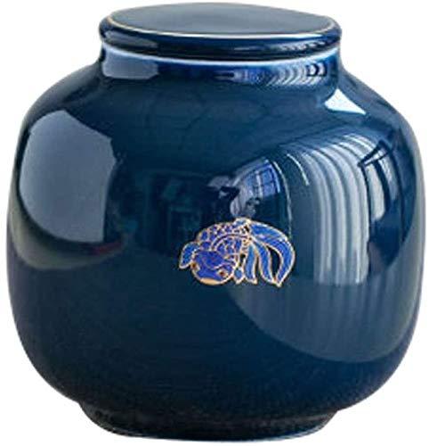 SDKFJ Urna Mini cremación urnas de cremación de Mascotas urnas Hechas a Mano Cerámica del Recuerdo de la pequeña Prueba de Humedad Tumba Memorial urnas (Color : 2)