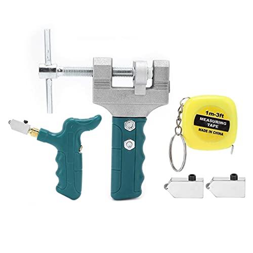 Kit de cortador de vidrio RUIRUIY, accesorio de herramienta de corte para abridor de azulejos de cerámica Manual portátil