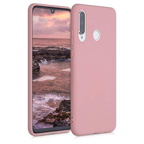 kwmobile Coque Compatible avec Huawei P30 Lite - Coque Housse Protectrice pour Téléphone en Silicone Rose Mat