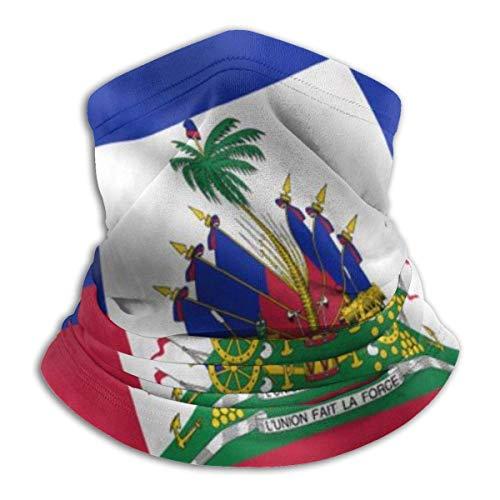fenrris65 Máscara de cara criolla de Haití con la bandera del Caribe de Haití, bandanas, calentador de cuello, pasamontañas, diadema para polvo, deportes al aire libre, sol