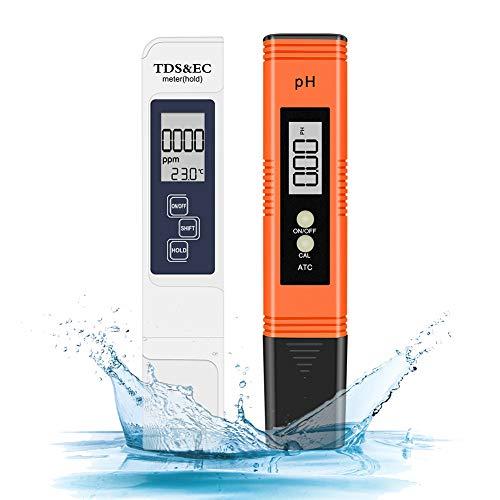 Eletorot - Misuratore PH Tester PH/TDS&EC per Piscina e Acquario (Arancione)