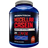 BodyTech Micellar Casein Protein Powder, Slow Release for Overnight Muscle Recovery 24 Grams of Protein per Serving Rich Chocolate (4 Pound)