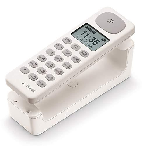 Punkt. DP01 Design Schnurloses Telefon mit Anrufbeantworter, Große Tasten, Freisprechfunktionon, Ausgezeichnete Tonqualität, Eigene Klingeltöne, Wandmontage Möglich, Bis zu 6 Mobilteile -Weiß