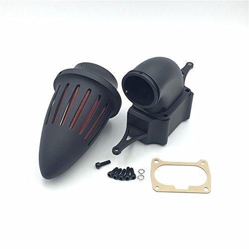 Htt Moto Noir mat Bullet Air Cleaner Kits pour 2002–2010 Yamaha Roadstar Midnight Warrior