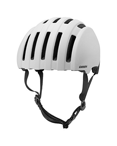 Carrera Prec 416542 Bicicleta Casco, Unisex, Color mattwhite Black, tamaño Large